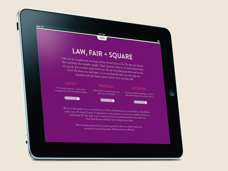 LCF Law Website detail