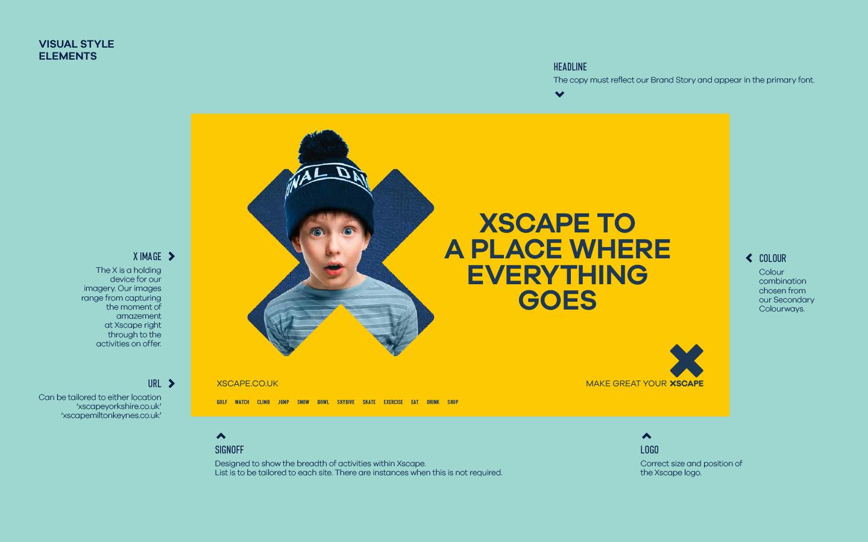 Xscape brand elements