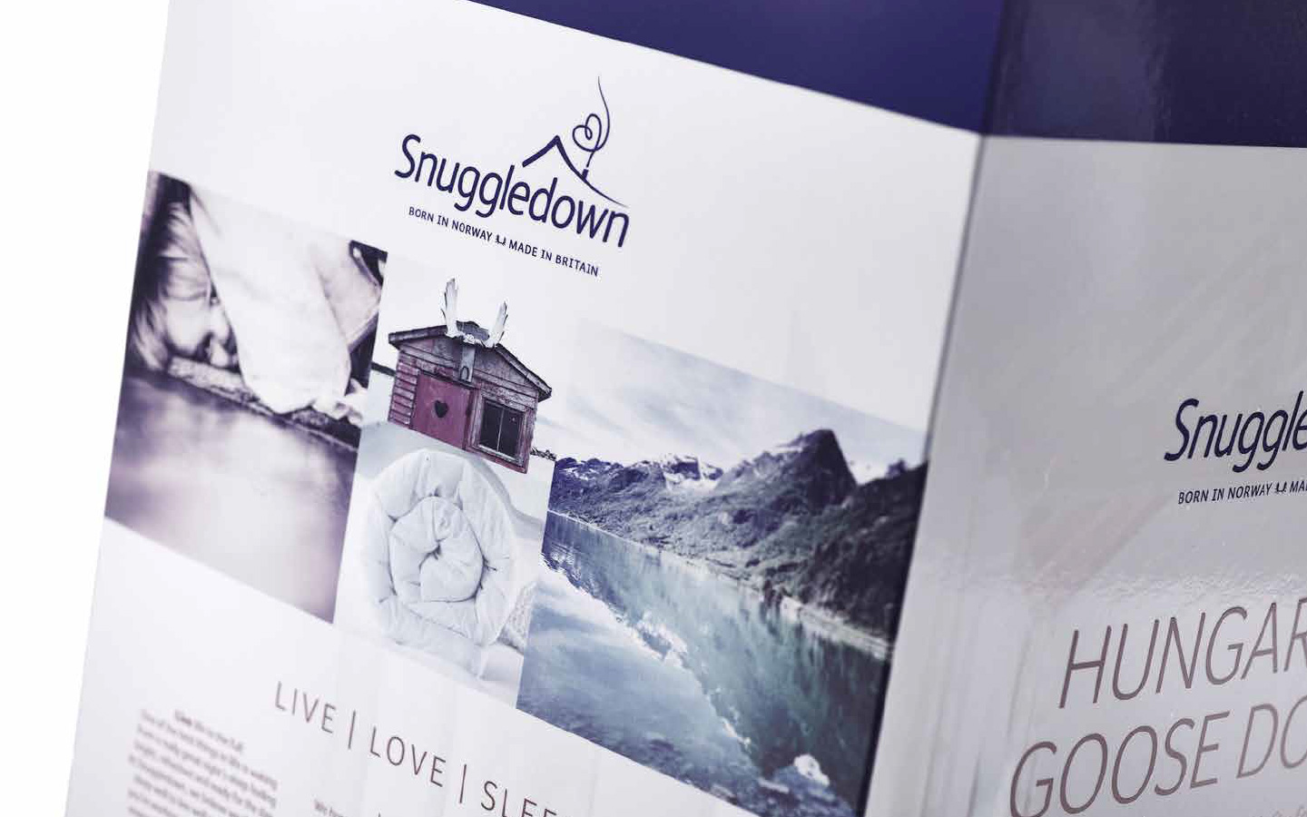 Snuggledown packaging detail