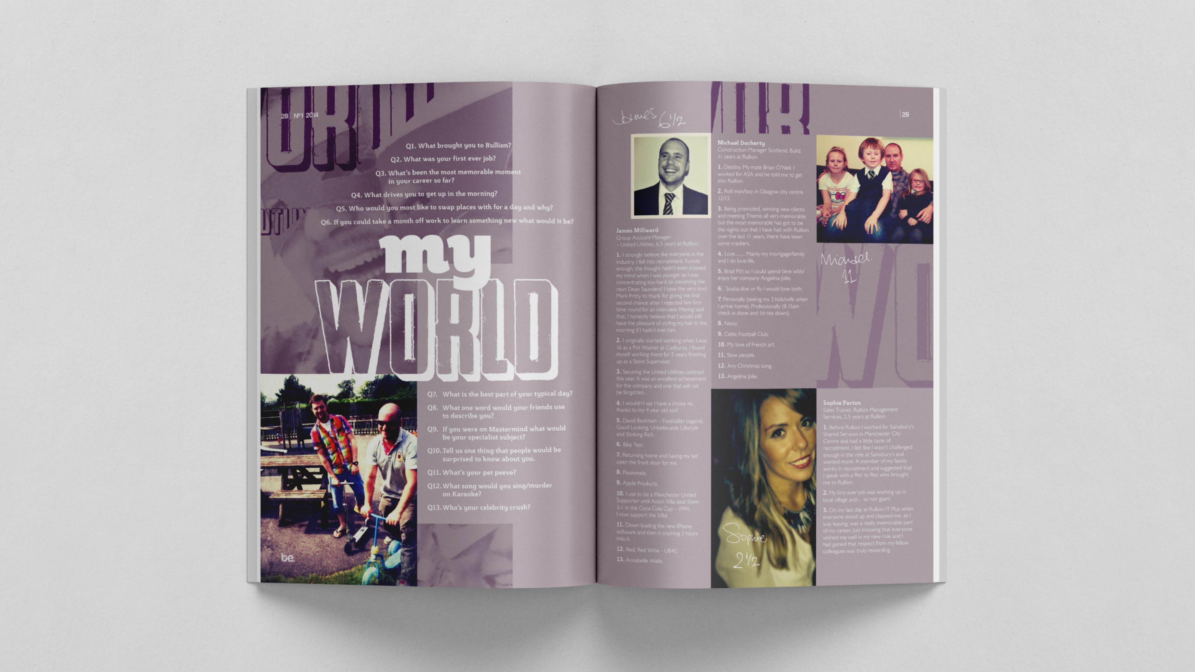 BE Magazine for Rullion Recruitment