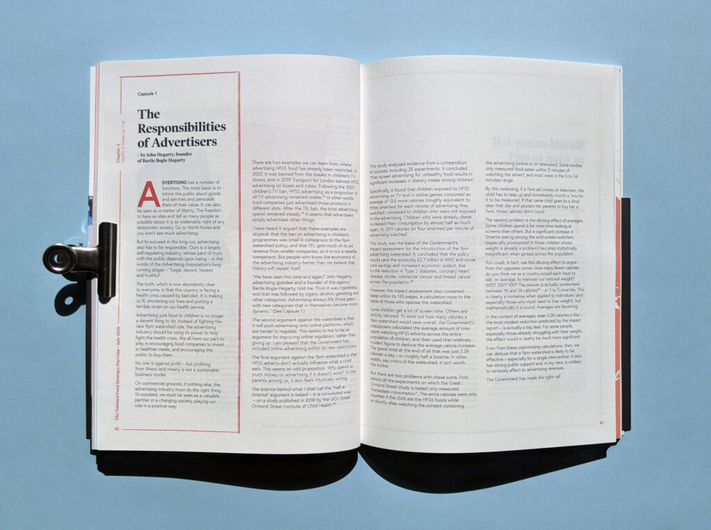 National Food Strategy Report Typography